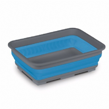 Kampa Collapsible Rectangular Washing Up Bowl - Blue